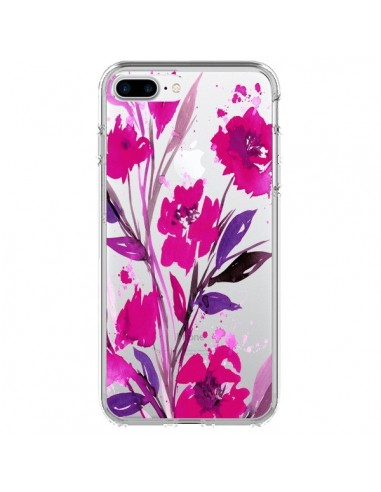 Coque Roses Fleur Flower Transparente pour iPhone 7 Plus et 8 Plus - Ebi Emporium