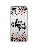 Coque iPhone 7 Plus et 8 Plus Too Glamour 4 you Trop Glamour pour Toi Transparente - Ebi Emporium