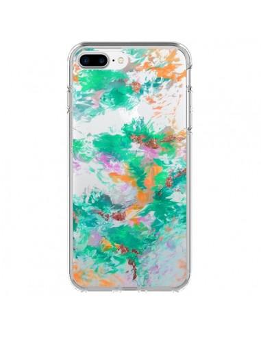 Coque iPhone 7 Plus et 8 Plus Mermaid Sirene Fleur Flower Transparente - Ebi Emporium