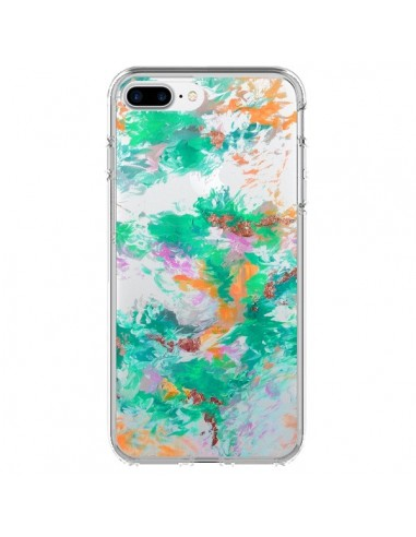 Coque Mermaid Sirene Fleur Flower Transparente pour iPhone 7 Plus et 8 Plus - Ebi Emporium