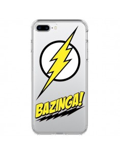 Coque Bazinga Sheldon The Big Bang Thoery Transparente pour iPhone 7 Plus - Jonathan Perez