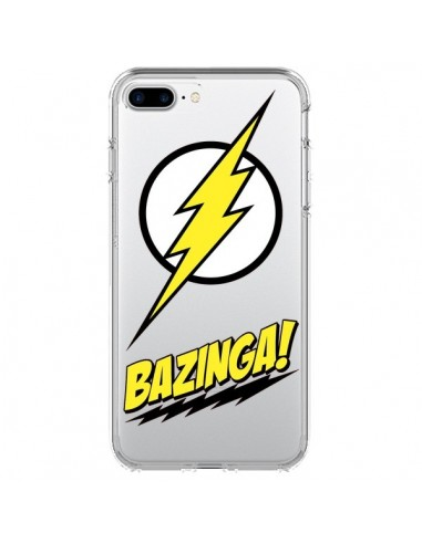 Coque Bazinga Sheldon The Big Bang Thoery Transparente pour iPhone 7 Plus et 8 Plus - Jonathan Perez