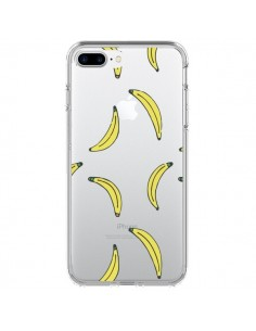 Coque Bananes Bananas Fruit Transparente pour iPhone 7 Plus et 8 Plus - Dricia Do