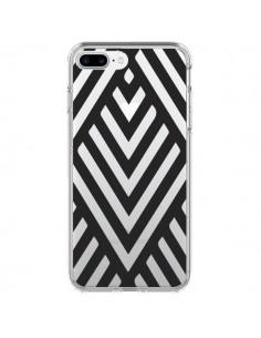 Coque Geometric Azteque Noir Transparente pour iPhone 7 Plus et 8 Plus - Dricia Do