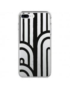 Coque Geometric Noir Transparente pour iPhone 7 Plus et 8 Plus - Dricia Do