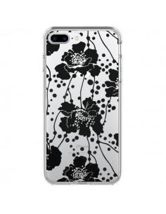 Coque Fleurs Noirs Flower Transparente pour iPhone 7 Plus - Dricia Do