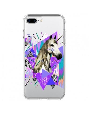 Coque iPhone 7 Plus et 8 Plus Licorne Unicorn Azteque Transparente - Kris Tate