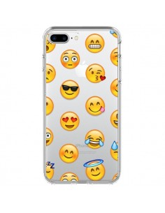 Coque Smiley Emoticone Emoji Transparente pour iPhone 7 Plus et 8 Plus - Laetitia
