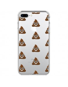 Coque Shit Poop Emoticone Emoji Transparente pour iPhone 7 Plus et 8 Plus - Laetitia