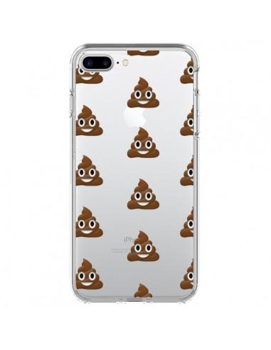 Coque iPhone 7 Plus et 8 Plus Shit Poop Emoticone Emoji Transparente - Laetitia