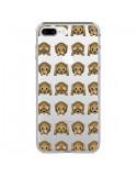 Coque iPhone 7 Plus et 8 Plus Singe Monkey Emoticone Emoji Transparente - Laetitia