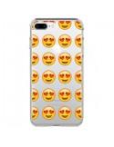 Coque Love Amoureux Smiley Emoticone Emoji Transparente pour iPhone 7 Plus et 8 Plus - Laetitia