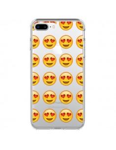 coque love amoureux smiley emoticone emoji transparente pour iphone 7 plus et 8 plus laetitia. Black Bedroom Furniture Sets. Home Design Ideas