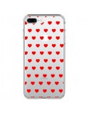 Coque Coeur Heart Love Amour Bleu Transparente pour iPhone 7 Plus et 8 Plus - Laetitia