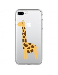 Coque Girafe Giraffe Animal Savane Transparente pour iPhone 7 Plus et 8 Plus - Petit Griffin