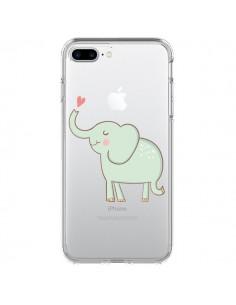Coque Elephant Elefant Animal Coeur Love Transparente pour iPhone 7 Plus - Petit Griffin