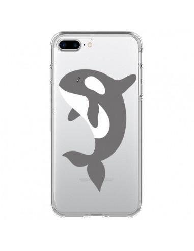 Coque iPhone 7 Plus et 8 Plus Orque Orca Ocean Transparente - Petit Griffin