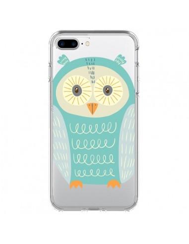 Coque Hibou Owl Transparente pour iPhone 7 Plus et 8 Plus - Petit Griffin