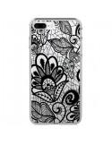 Coque Lace Fleur Flower Noir Transparente pour iPhone 7 Plus et 8 Plus - Petit Griffin