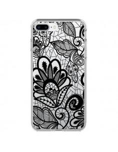 Coque Lace Fleur Flower Noir Transparente pour iPhone 7 Plus - Petit Griffin