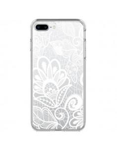 Coque Lace Fleur Flower Blanc Transparente pour iPhone 7 Plus - Petit Griffin