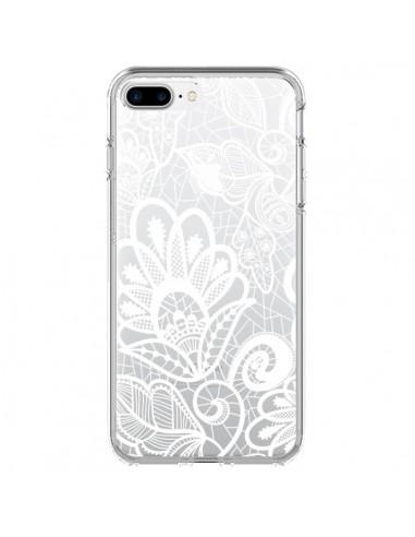 Coque Lace Fleur Flower Blanc Transparente pour iPhone 7 Plus et 8 Plus - Petit Griffin