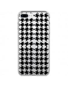 Coque Vichy Carre Noir Transparente pour iPhone 7 Plus - Petit Griffin