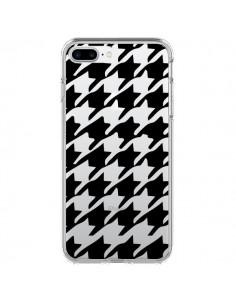 Coque Vichy Gros Carre noir Transparente pour iPhone 7 Plus - Petit Griffin