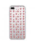 Coque iPhone 7 Plus et 8 Plus Coeurs Heart Love Amour Rouge Transparente - Petit Griffin