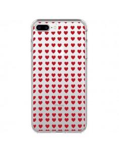 Coque Coeurs Heart Love Amour Red Transparente pour iPhone 7 Plus - Petit Griffin