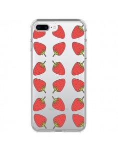 Coque Fraise Fruit Strawberry Transparente pour iPhone 7 Plus et 8 Plus - Petit Griffin