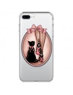 Coque Lady Chat Noeud Papillon Pois Chaussures Transparente pour iPhone 7 Plus et 8 Plus - Maryline Cazenave