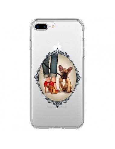 Coque Lady Jambes Chien Bulldog Dog Transparente pour iPhone 7 Plus et 8 Plus - Maryline Cazenave