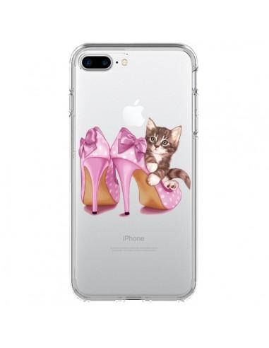 Coque Chaton Chat Kitten Chaussures Shoes Transparente pour iPhone 7 Plus et 8 Plus - Maryline Cazenave