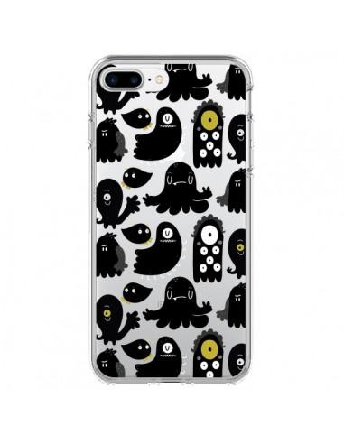 Coque Monsters Monstres Pattern Transparente pour iPhone 7 Plus et 8 Plus - Maria Jose Da Luz