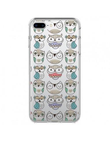 Coque iPhone 7 Plus et 8 Plus Chouettes Owl Hibou Transparente - Maria Jose Da Luz
