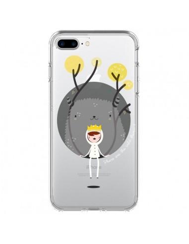 Coque Monstre Princesse Transparente pour iPhone 7 Plus - Maria Jose Da Luz