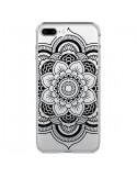 Coque iPhone 7 Plus et 8 Plus Mandala Noir Azteque Transparente - Nico