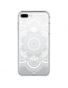 Coque Mandala Blanc Azteque Transparente pour iPhone 7 Plus et 8 Plus - Nico