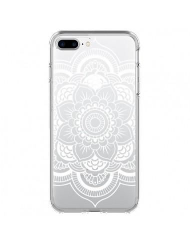 Coque Mandala Blanc Azteque Transparente pour iPhone 7 Plus - Nico