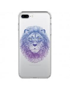 Coque Lion Animal Transparente pour iPhone 7 Plus et 8 Plus - Rachel Caldwell