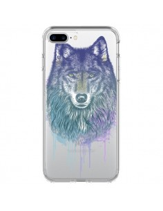 Coque Loup Wolf Animal Transparente pour iPhone 7 Plus - Rachel Caldwell