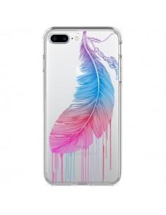 Coque Plume Feather Arc en Ciel Transparente pour iPhone 7 Plus - Rachel Caldwell