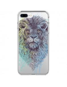 Coque Roi Lion King Transparente pour iPhone 7 Plus et 8 Plus - Rachel Caldwell