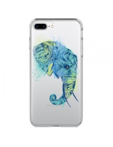 Coque iPhone 7 Plus et 8 Plus Elephant Elefant Transparente - Rachel Caldwell