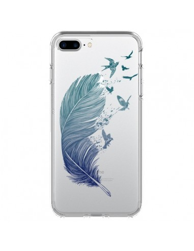 Coque iPhone 7 Plus et 8 Plus Plume Feather Fly Away Transparente - Rachel Caldwell