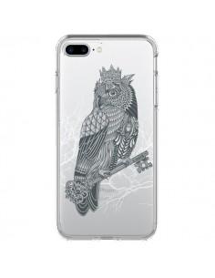 Coque Owl King Chouette Hibou Roi Transparente pour iPhone 7 Plus et 8 Plus - Rachel Caldwell