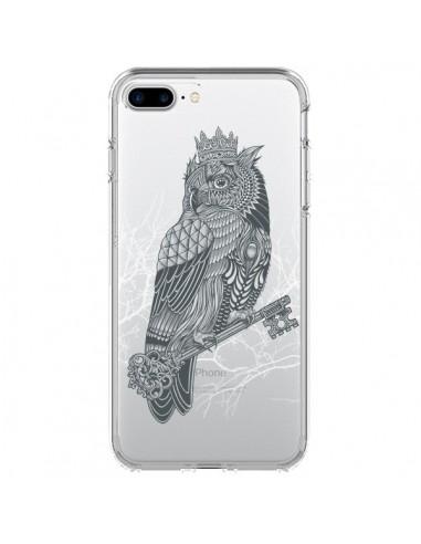 Coque Owl King Chouette Hibou Roi Transparente pour iPhone 7 Plus - Rachel Caldwell