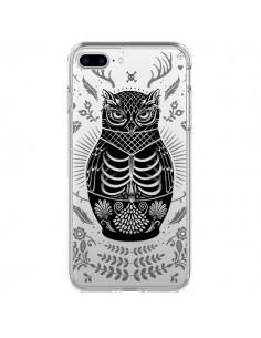 Coque Owl Chouette Hibou Squelette Transparente pour iPhone 7 Plus - Rachel Caldwell