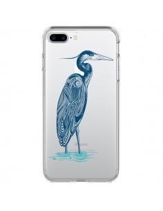 Coque Heron Blue Oiseau Transparente pour iPhone 7 Plus et 8 Plus - Rachel Caldwell